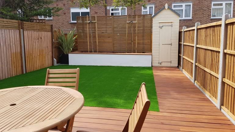 Creation of a contemporary outdoor living area