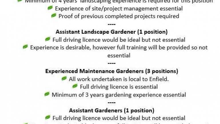 Job Vacancies @ GP Garden Services..